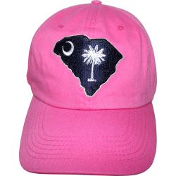 SC Map Cap with Border- Hot Pink