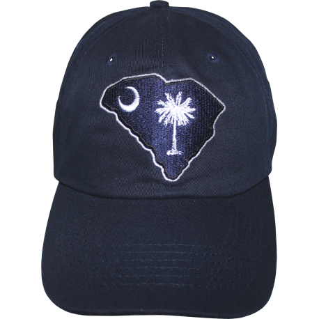 SC Map Cap with Border- Navy Blue
