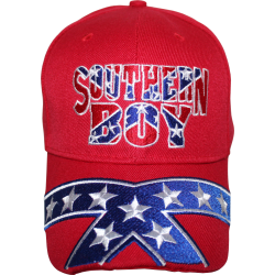 Southern Boy Rebel Cap- Red