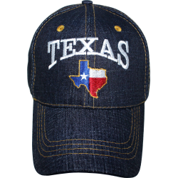 Texas Map- Blue Jean Cap