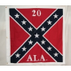 "CS 20th AIA Battle 51""x51"" Cotton Flag"