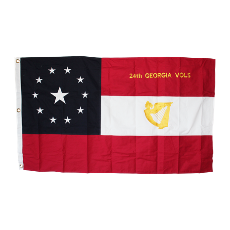 24th Georgia Vols 3'x5' Cotton Embroidered Flag