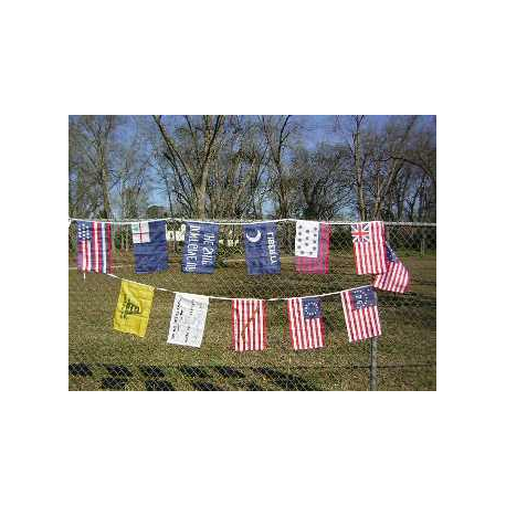 "Early American 12""x18"" String Bunting"