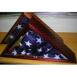 Flag Memorial Case, Cherry