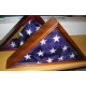 Flag Memorial Case, Oak