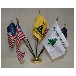 "Historical Desk Set 4""x6"" Stick Flags"