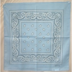 Paisley Bandana, Light Blue