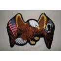 POW MIA & USA Eagle Patch